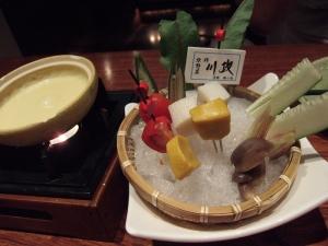 錦市場の京風チーズフォンデュ