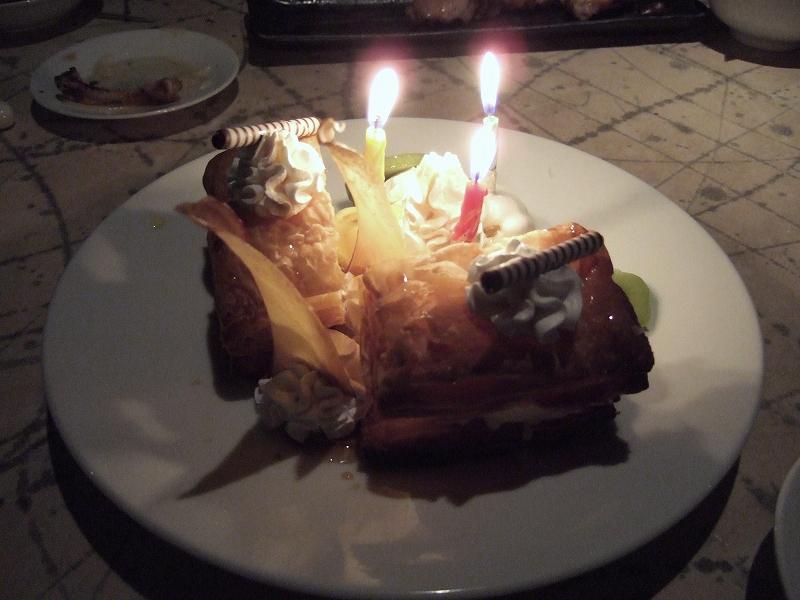 お店で用意してくれたバースデーケーキ